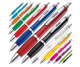 Transparenter Kugelschreiber mit Metallclip
