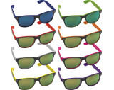 Sonnebrille bicolour mit verspiegelten Gläsern