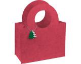 Tasche aus Filz mit Tannenbaumanhänger